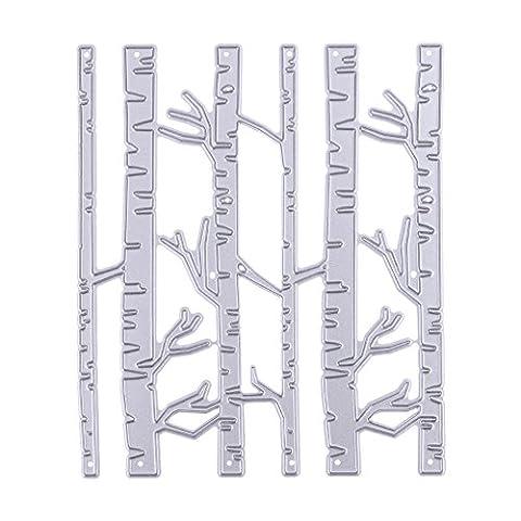 Demiawaking 1Pcs Schön Bambus Form Stanzschablonen Metall Schneiden Schablonen für DIY Scrapbooking Album, Schneiden Schablonen Papier Karten Sammelalbum Dekor (3)