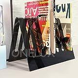 Onelux en V Acrylique Magazine support Rack, lucite Plexiglas Journal/Brochure Holders–Beaucoup de Couleurs (Noir)