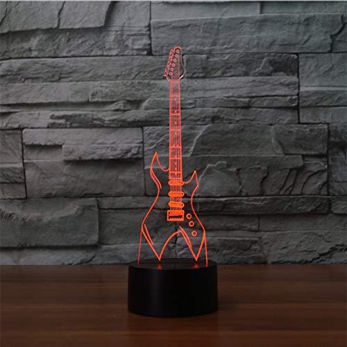 Neue Ankunft 3D Led Flash Nachtlicht Super Cool E-Gitarre Modell Bunte Usb Kabel Power Lampe Weihnachtsgeschenk Wohnkultur 1.3-kabel Modell