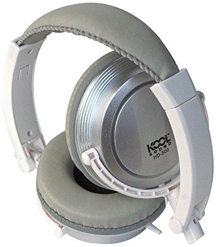 Kool Sound HD - 500-Cuffie stereo per tablet/Smartphone/lettore MP3, colore: bianco/argento