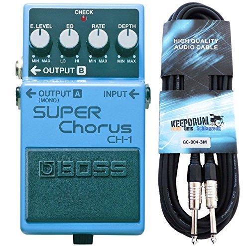 Boss CH de 1Super Chorus estéreo + Keepdrum Guitarra Cable 3m