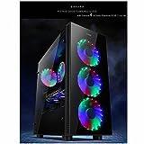 Sahara P35 - Caso di gioco per PC Mid Tower in vetro temperato con 4 x Turbo Pirate 12cm Veri ventilatori RGB, Nero  - 51hHeyPptDL - Bestseller Case per PC
