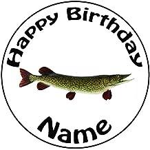 """Personalizado Pesca Pike peces decoración para tarta para–una precortado redondo 8""""(20cm) glaseado decoración"""