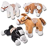4 Caballos de peluche Prextex de 25,4 cm Caballos animales de peluche