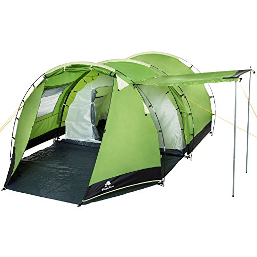 51hHg V1ruL. SS500  - CampFeuer - Tunnel Tent Family Tent 3000 mm water column - Green/Black