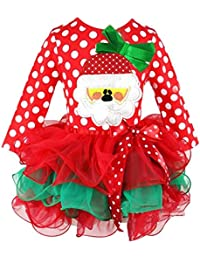 BOBORA Navidad Vestido De Manga Larga Bebe Nina Trajes Nino Princesa Tul Vestido