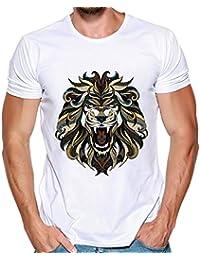 Hombres Que Imprimen Las Camisetas Camisa de Manga Corta Camiseta Blusa Tops de Internet