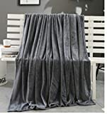 Flanell-Fleece Decke ❄ZEZKT-Home❄Felldecke Hochwertige Kuscheldecke Wohndecke Warmer Nerzdecke 70*100cm (Dunkelgrau, 70*100cm)