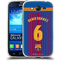 Official FC Barcelona Denis Suárez 2017/18 Players Home Kit Group 1 Soft Gel Case for Samsung Galaxy Grand Neo