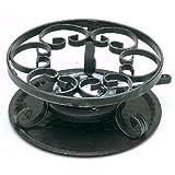 NMC–r0019. va–Hornillo de fondue de hierro forjado 23cm Negro