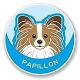 2x Papillon Continental Spielzeug Spaniel Hund vinyl Aufkleber Aufkleber Laptop Reise Gepäck Auto Ipad Schild Fun # 5991Trittschemel - 25cm/250mm Wide