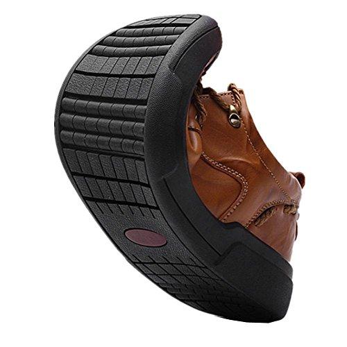 La nuova tendenza di scarpe casual da uomo traspirante scarpe di cuoio di affari di moda 3
