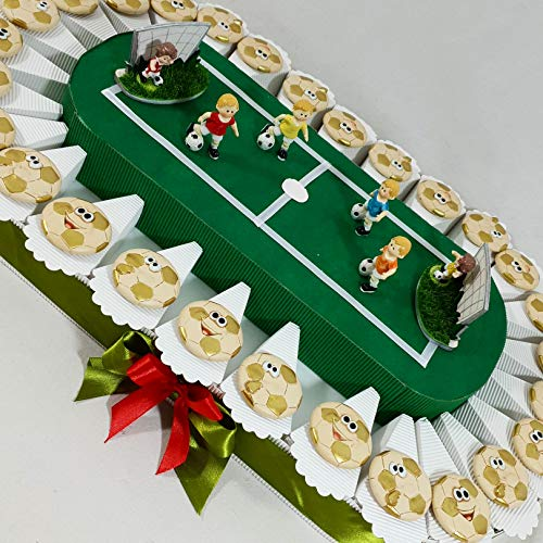 Torte bomboniere stadio calciatori calcio cresima, comunione, compleanno confetti inclusi *