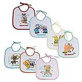 #8: WonderKart® Beautiful Printed Baby Bib (Pack of 7 Bib) - Design And Color May Vary