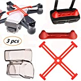 Kismaple Spark Protection Accessories (Camera Lens Cap Cover+ Propellers Clip Protective + Controller Transmitter Joystick Protector) for DJI Spark Drone and Remote Controller from Kismaple