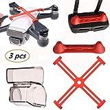 Kismaple Spark protecteur (Capuchon de l'appareil photo + Hélices Clip Protective + Contrôleur Télécommande Joystick Protector ) Accessoires pour DJI Spark Drone et télécommande