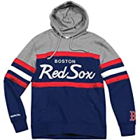 "Boston Red Sox Mitchell & Ness MLB ""Head Coach"" Pullover Hooded Sweatshirt"