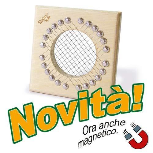 TAPU\' IL TAGLIA PUNTARELLE con CALAMITA Artigianale Made in Italy Slicer Tagliapuntarelle Tagliaverdure Multiuso Utensile Manuale Cucina Mandolina Affettaverdure Julienne Betulla Alluminio Inox