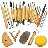Herramientas Modelado, Set 30 Pcs para Escultura Arcilla Cerámica Madera Otros Productos Manualidades