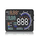 Audew Kopf-oben-Anzeige Auto Alarmsystem Auto Head Up Display 5.5 ZOLL A8 HUD