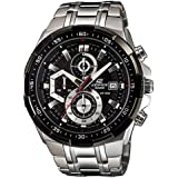 Casio Men's Black Dial Stainless Steel Band Watch - EFR-539D-1A