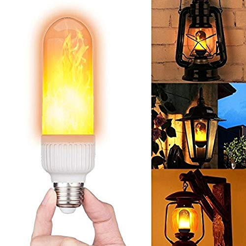 DLIGHT Flickering Flame Bulbs Fire Upside Down Decorative LED Light E27,(2 Lighting Modes)