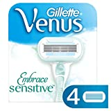 Ersatzklingen für Damenrasierer, Gillette Venus Embrace Sensitive, 4er-Set
