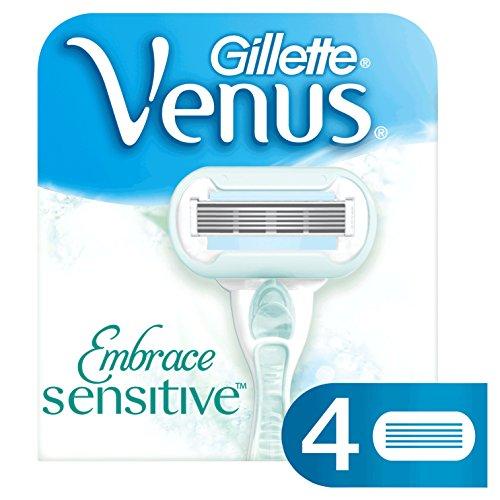 Gillette Venus Embrace Sensitive Cuchillas de Recambio para Maquinilla para Mujer - 4 Unidades