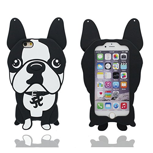 "iPhone 6 Plus Hülle, [ TPU materielles flexibles stilvolles 3D Bulldogge] Dog Cover Handyhülle für iPhone 6S Plus (5.5""), Staub-Beleg-Kratzer beständig, iPhone 6 Plus case (5.5"") # 1"