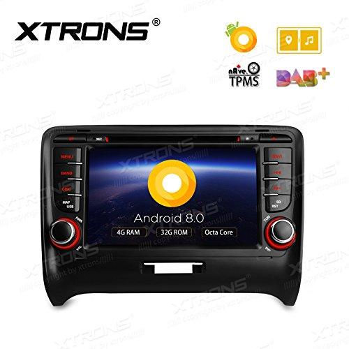 XTRONS 17,8cm Android 8.0Octa Core 4G RAM 32G ROM Auto Stereo HD Digital Multi-Touchscreen DVD Player Reifendruck Überwachung Wifi OBD2DVR für Audi TT MK2 (Dvd-player Core)
