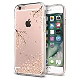 Spigen iPhone 6S Hülle, iPhone 6 Hülle [Liquid Crystal Blossom] Kirschenblüte Muster Soft Flex Bumper Style Silikon Handyhülle Schutzhülle für iPhone 6/6S Case Cover - Crystal Clear