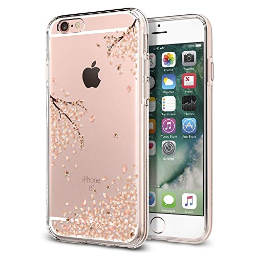 Spigen iPhone 6S Hülle, iPhone 6 Hülle [Liquid Crystal Blossom] Kirschenblüte Muster Soft Flex Bumper Style Silikon Handyhülle Schutzhülle für iPhone 6/6S Case Cover - Crystal Clear Tolle Iphone Cover