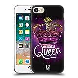 Head Case Designs Your Next Queen Ribelli della Corona Cover Morbida in Gel per iPhone 7 / iPhone 8