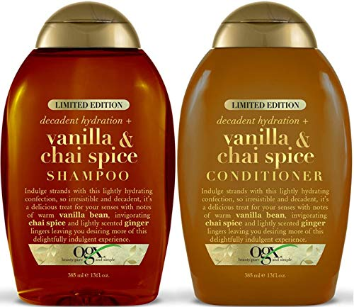 OGX Vanilla Chai Spice Shampoo and Conditioner Gift Set, 385 ml, Pack of 2
