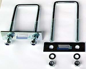 2 U-Bügel - groß - Halterungen, Befestigungssatz für Deichselbox, Halter für Staubox, Werkzeugkasten, Montagesatz MON4002