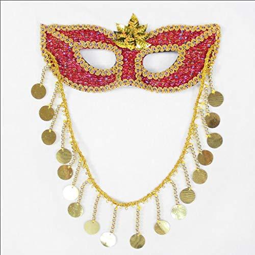 Unbekannt Mask- Prinzessin Maske Sexy Rote Linien Gestreifte Erwachsene Weibliche Augenmaske Halloween Maske Maskerade