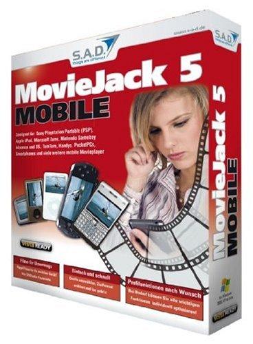 Smartphones Pocket Pc (MovieJack 5 Mobile, CD-ROM Geeignet für Sony Playstation Portable (PSP), Gizmondo, Nintendo Gameboy Advanced und DS, TomTom, Handys, Pocket-PCs, Smartphones ... Movieplayer. Für Windows 2000/XP/Vista)