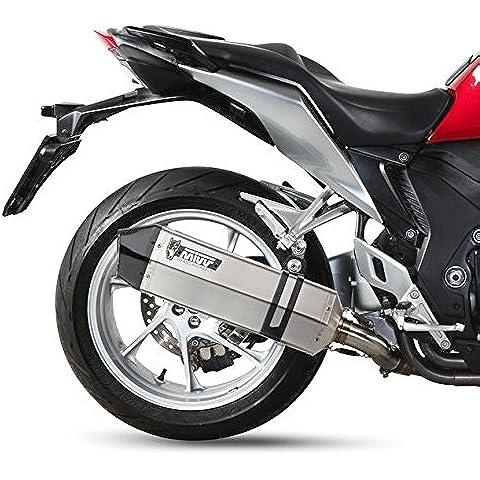 Escape MIVV velocidad borde Honda VFR 1200F 10–16acero inoxidable fibra de carbono/End Caps