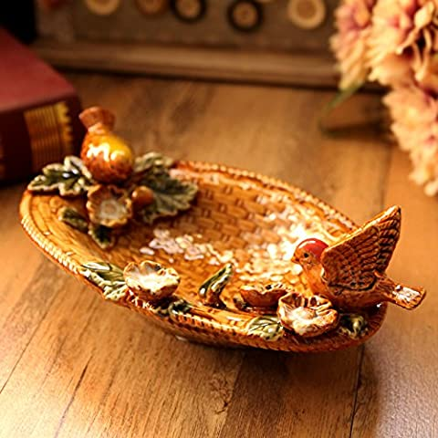 LGK&FA Handmade Soap Box Ceramic Handicrafts Compote Ashtray