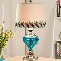 ZYCkeji Zart Mediterrane Einfache Europäischen Stil Tischlampe Schlafzimmer Nachttisch Blaues Glas Kreative Mode... preisvergleich bei billige-tabletten.eu