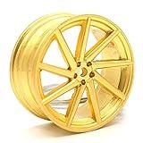 Vossen Style Gold Matt Felge Schlüsselanhänger - massiver Anhänger - von VmG-Store OEM VAG DUB