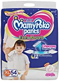 #9: MamyPoko Pants Extra Absorb Diaper - Extra Large Size, Pack of 54 Diapers (XL-54)