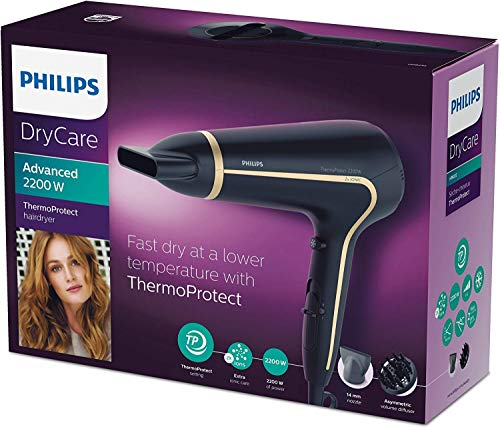 Philips HP8232/20 ThermoProtect Haartrockner, schwarz - 6