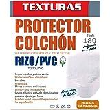 TEXTURAS HOME - Protector de Colchón Impermeable Rizo/PVC (disponible en varios tamaños ) (180_x_200_cm)