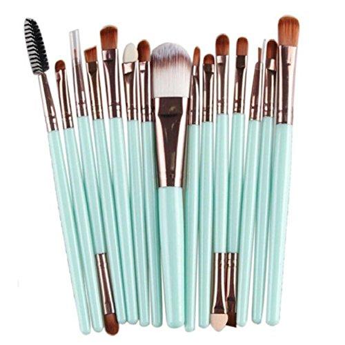 Scrox 15 Pcs Professionnel Maquillage Brosse Visage Ombre à Paupières Crayon à Lèvres Lip Liner Brosse Fondation Blush Outils Cosmétiques, Professionnel Maquillage Spécialiste