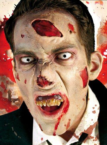 Karneval / Fasching / Kostüm - Zombie Deluxe Halbmasken-Set