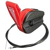 Bluelover 65 Zoll Universal Rasenmäher Gas Switch Control Garten Maschine Kabelverschraubung