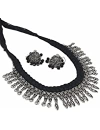 Multiline Company Antique Silver Silver Plated Strand Necklace For Women