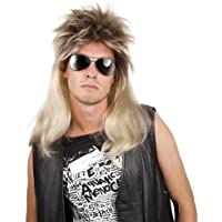 Boland 86060 - Erwachsene Pop Rock Ryan Vokuhila Langhaar Perücke, blond / braun