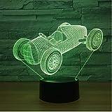 Nachtlicht Old Racing Car Nachtlampe 7 Farbwechsel Led 3D-Atmosphäre Lampe Visuelles Nachtlicht Innenbeleuchtung